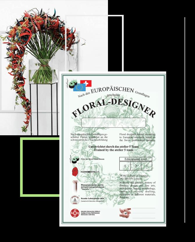 Floral Designer Scuola internazionale in 72 giorni