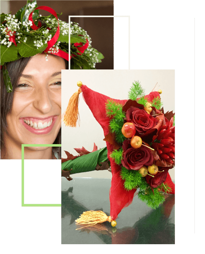 Idee floreali per la laurea - fiori per lauree