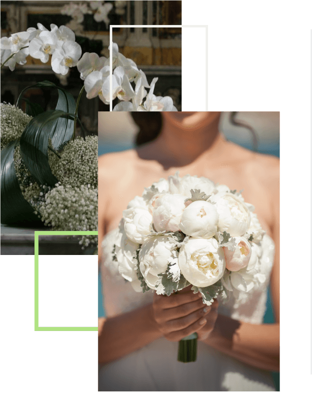 Weddings - Bouquet and floral arrangements of Flowers and Marilena ideas