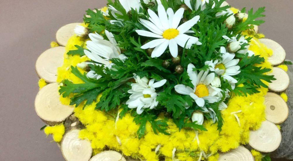 Composizione floreale da regalare per la festa della donna