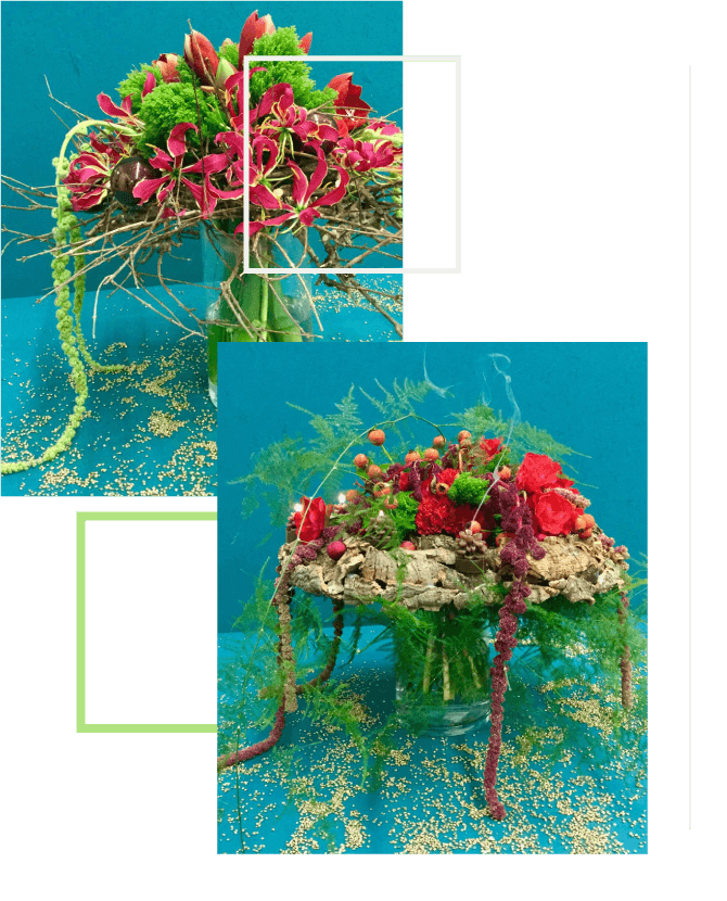 Composizione floreale per il natale